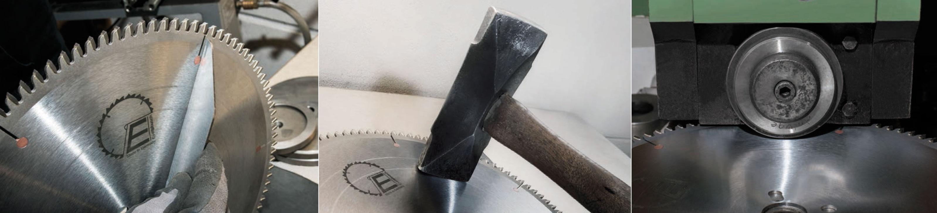 Evertsbusch-Instandsetzungsservice: Er umfasst Schärf- und Zahnreparaturen sowie die komplette Neubestückung gebrauchter HM-Sägeblätter bis zu einem Durchmesser von 840 mm.